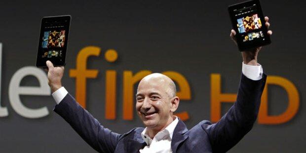 Amazon-Tablet Kindle Fire startet bei uns