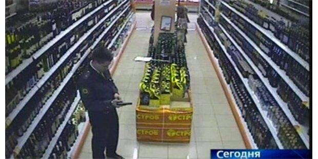 Polizist schoss in Supermarkt um sich