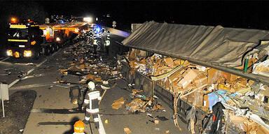 Folgenschwerer Lkw-Crash auf der A1