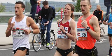 Andrea Mayr gewann Halbmarathon in Wien