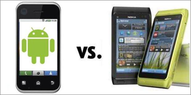 Android zieht erstmals an Nokia vorbei