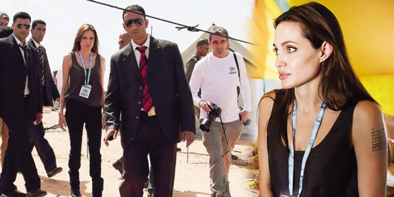 Angelina Jolie macht libyschen Flüchtlingen Mut