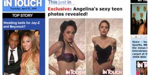 So sexy posierte Angelina Jolie mit 16!