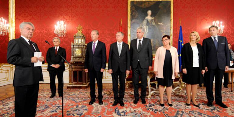 Fischer lobt neue Minister an
