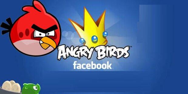 Angry Birds starten auf Facebook durch