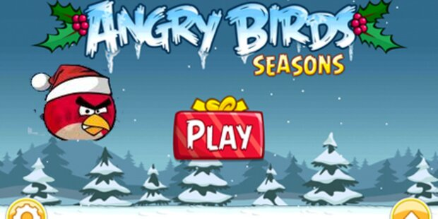Weihnachts-Version von Angry Birds