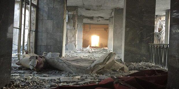 Parlament in Ankara schwer beschädigt