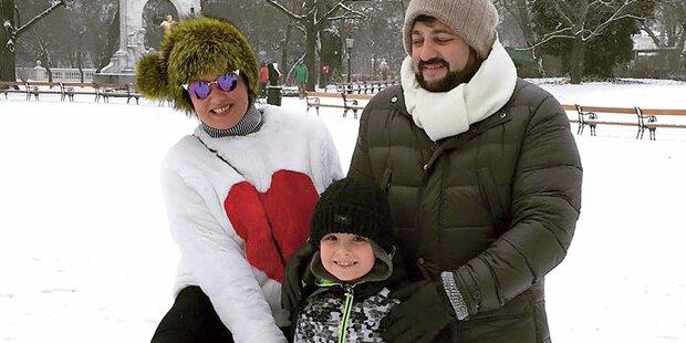 Anna Netrebko: Spaß im Schnee