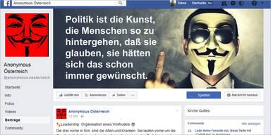Anonymous liest heimischen Politikern die Leviten