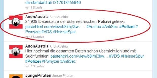 Anonymous hackt österreichische Polizei