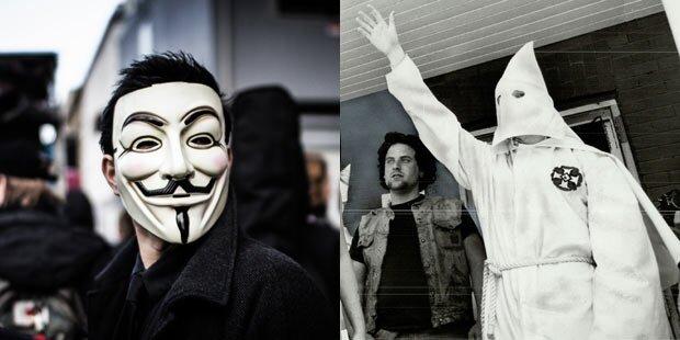 Anonymous: Mega-Attacke gegen Klu Klux Klan