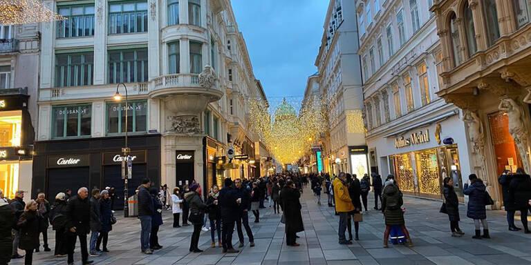 Bilder zeigen Mega-Ansturm in Wiener City am Abend vor Lockdown-Ende