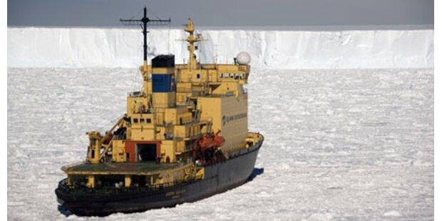 100 Touristen in Antarktis festgefroren