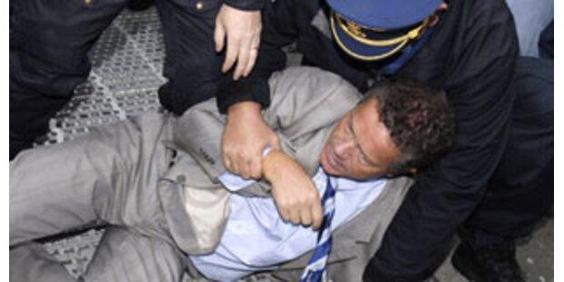Belgische Politiker bei Demo verhaftet