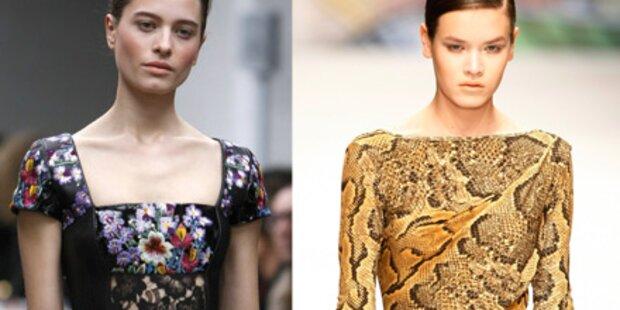 Fashion Week: Leo-Look und Pailettenwahn