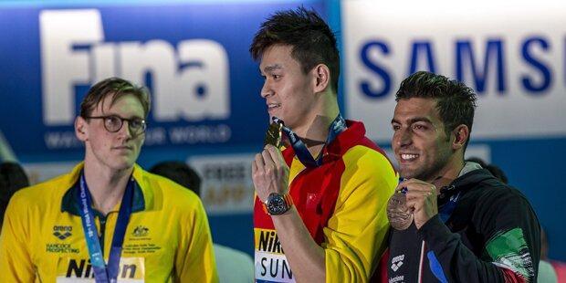 WM-Skandal: Schwimmer will nicht mit Sieger posieren