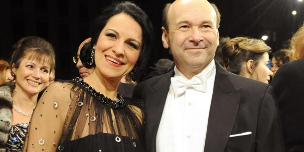 Opernball: Staatsoperndirektor Dominique Meyer und die Sopranistin Angela Gheorghiu