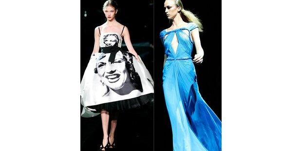 Pelzige Opulenz und Marylin am Kleid