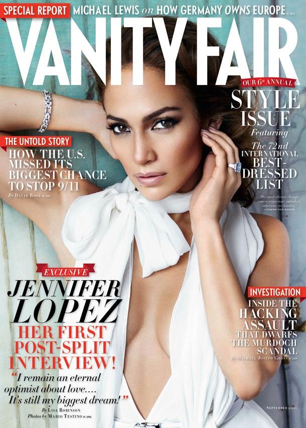 Jennifer Lopez: Sexy am Cover von Vanity Fair