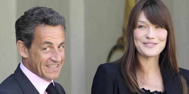 """Sarkozy """"sehr glücklich"""" über seine Tochter"""