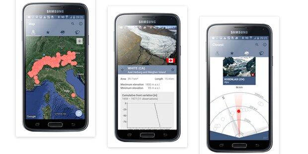Per Gratis-App alle Gletscher beobachten