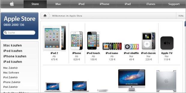 Online-Verkaufsverbot für Apple-Produkte