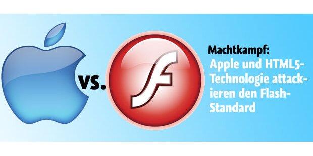 Apple setzt Flash weiter unter Druck