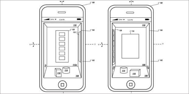 Apple-Patent: 3D-Steuerung für iPhone & Co.