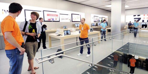 Apple Store in Wien kurz vor Eröffnung