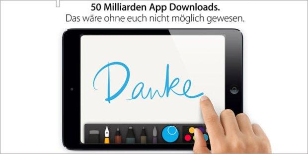 Apple knackt 50 Mrd. Download-Marke