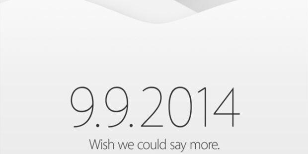 Fix: iPhone kommt am 9. September