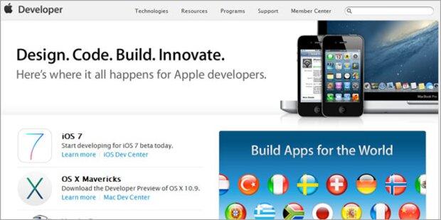 Apples Entwickler-Seite ist wieder online