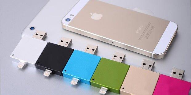 Mini-USB-Festplatte für iPhone, iPad & Co.
