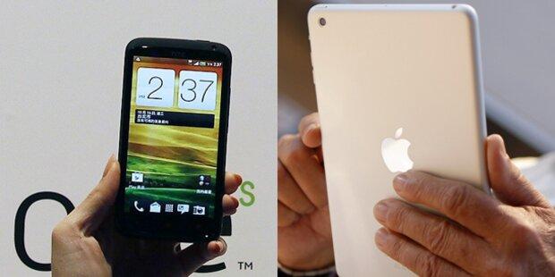 Apple und HTC legen Patentstreit bei