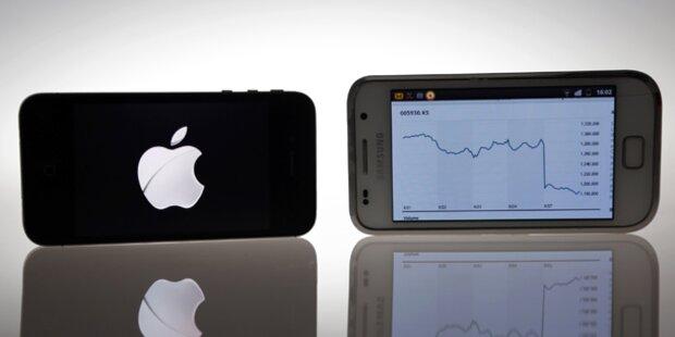 Samsung und Apple mit Abstand vorn