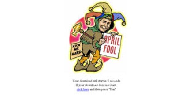 Internet-Wurm tarnt sich als April-Scherz