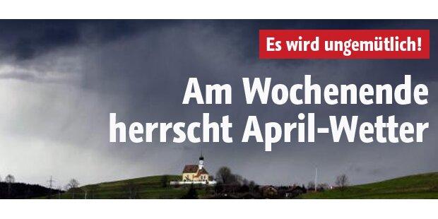 Am Wochenende kommt echtes April-Wetter