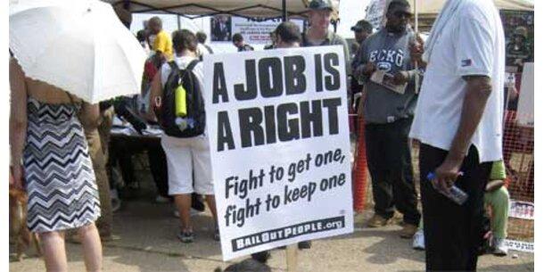 US-Arbeitslosenquote über zehn Prozent