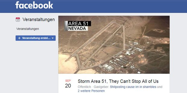 Sturm auf Area 51: Schon 1,5 Mio. Zusagen