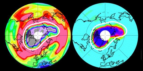 Riesiges Ozonloch über der Arktis