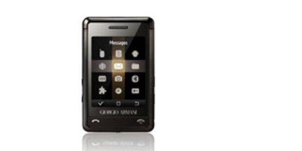 Elegantes Luxus-Handy von Giorgio Armani