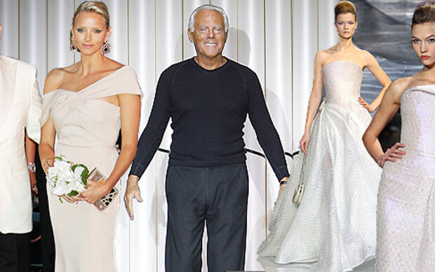 Armani entwirft Charlenes Brautkleid
