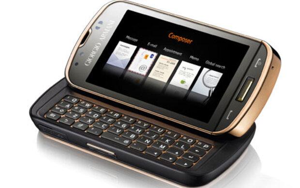 Giorgio Armani präsentiert neues Handy