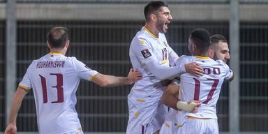 Armenien nach 3:2 gegen Rumänien Tabellenführer
