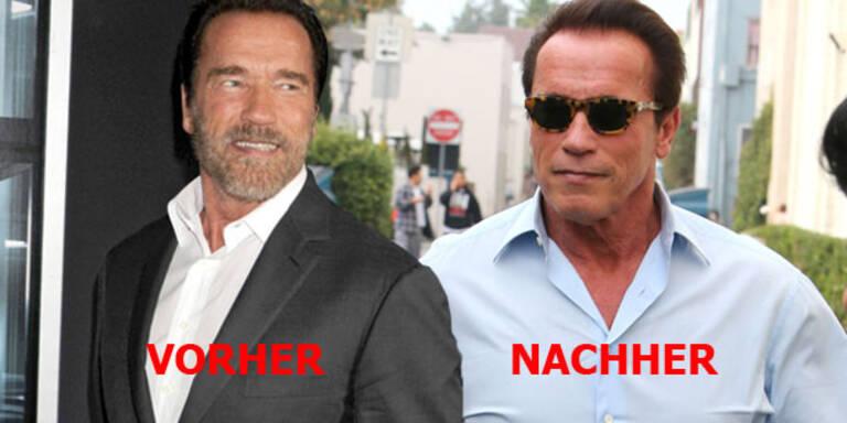 Arnie macht Schluss mit seinem Vollbart