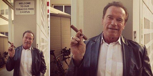 Arnie kümmert sich nicht ums Rauchverbot