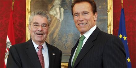 Arnold Schwarzenegger Heinz Fischer