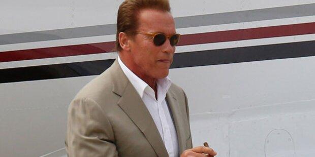 Arnie Schwarzenegger in Graz gelandet
