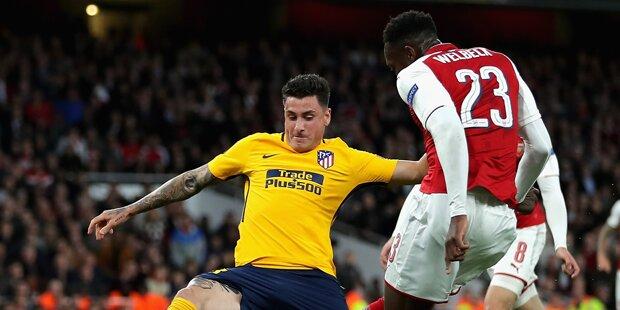 Arsenal nur 1:1 gegen 10 Madrilenen