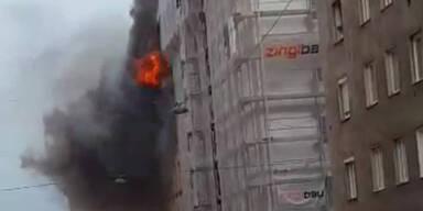 Vier Verletzte bei Zimmerbrand in Wien-Favoriten